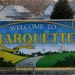 marquette welcome sign